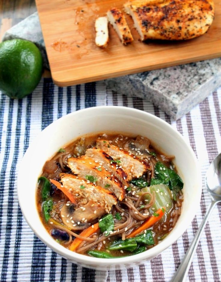 Panera's Soba Noodle Broth Bowl with Chicken - Copy Cat Recipe - Sweet Love and Ginger