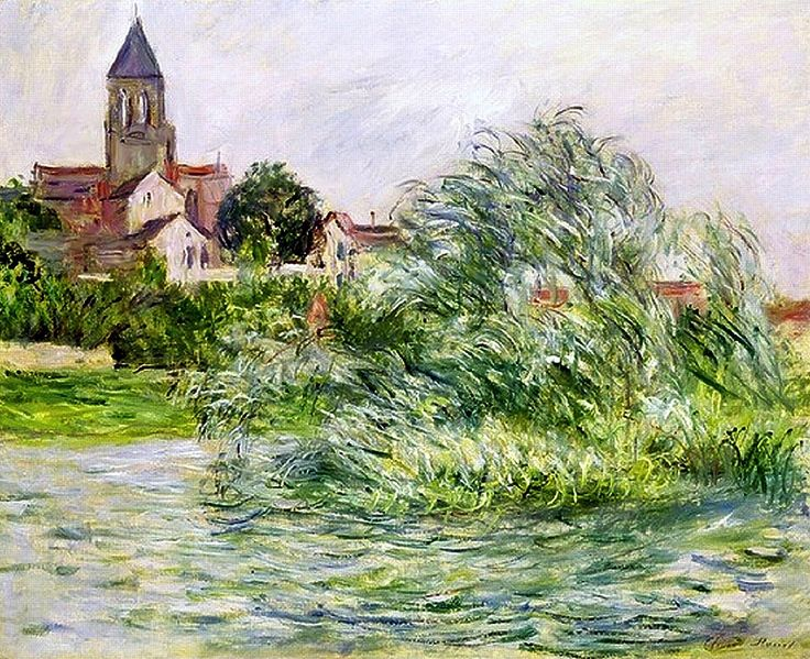 bofransson:  1881Claude Monet The church at Vetheuil
