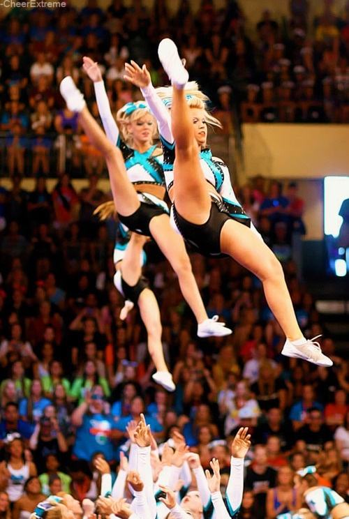 Fly high, do or die, dare to dream. CHEER EXTREME!!! Maddie Gardner and Erica Elgerbert! <3