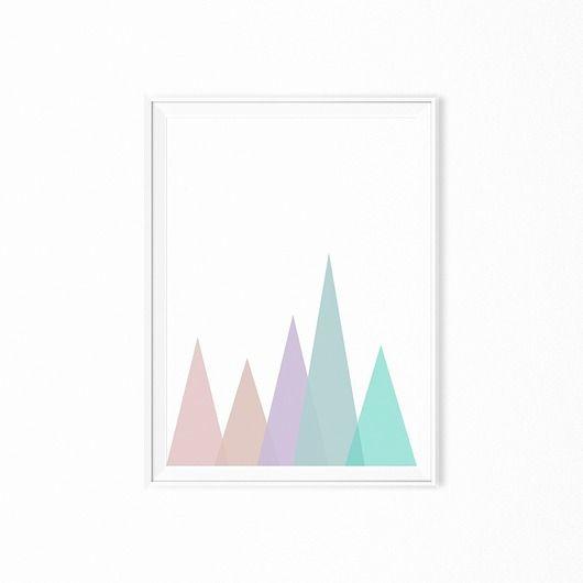 Plakat skandynawski geometryczny
