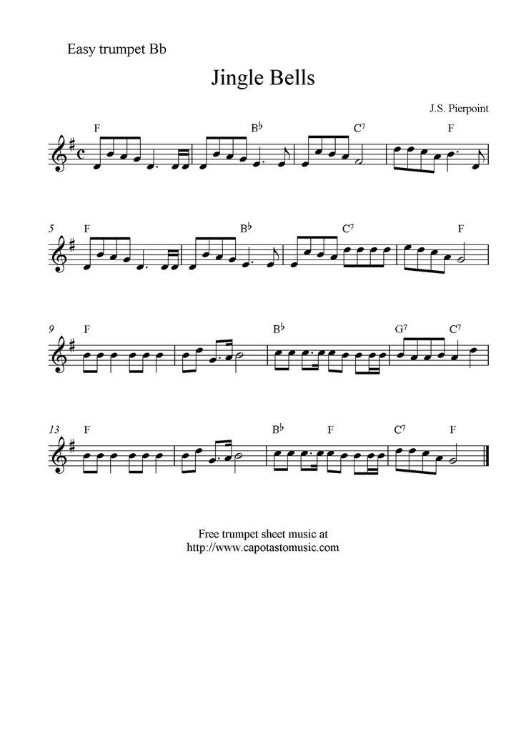 Trumpet Sheet Music   Sheet Music Scores: Jingle Bells ...