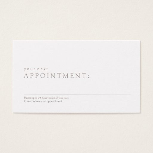385 best appointment reminder business cards images on pinterest simple professional appointment reminder office essentialsappointmentsbusiness cardstextslipsense colourmoves Images