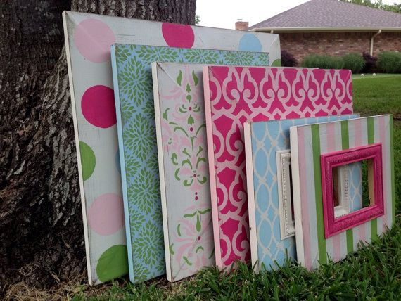 gallery wall distressed picture frame set by rubyandlucyframes