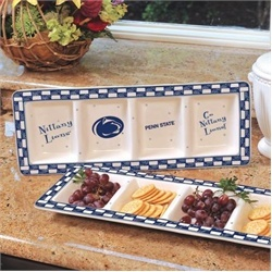 Penn State Nittany Lions Ceramic Relish Tray Serving Dish