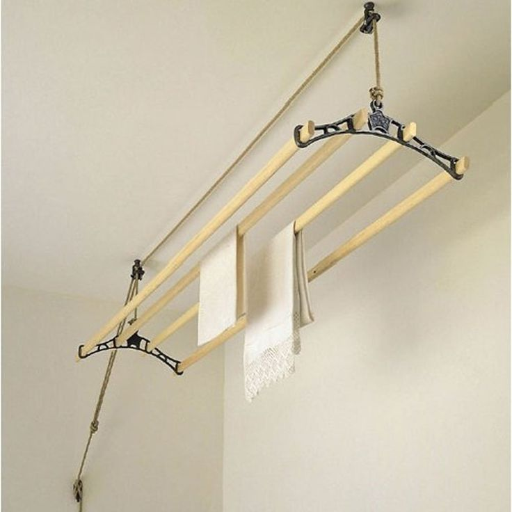 Sheila Maid Traditional Clothes Airer US terminology would be a drier rack on a pulley to place at ceiling height. Quite clever.