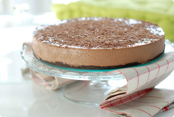 Cheesecake de chocolate y café, sin horno