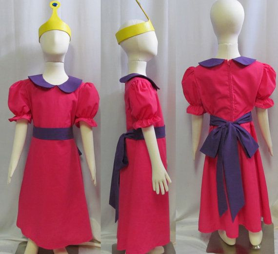 Child's Princess Bubblegum Costume Cosplay Size 2 3 4 5 6 7 8 on Etsy, $45.00