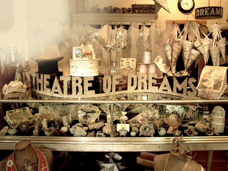 Wendy Addison Studio. Theatre of Dreams. Port Costa, CA. A Victorian Ghost Town. This would be something to see, especially at Christmas time when her holiday open houses take place, showcasing her vintage, big-top, P.T. Barnum circus inspired designs and limited edition pieces. Lovely.