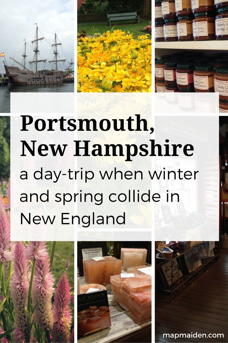 Portsmouth, NH - an affordable day trip in New England when winter and spring collide. Restaurants, seaside shops, nightlife, and centrally located on the east coast!
