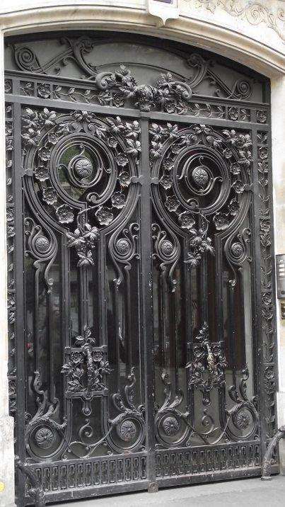 ♅ Detailed Doors to Drool Over ♅  art photographs of door knockers, hardware & portals - Wrought Iron Doors Paris