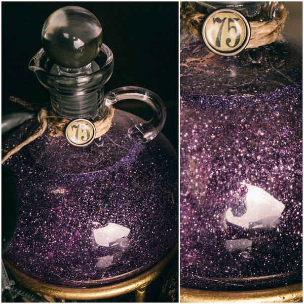 mix up glitter in corn syrup to get this delightful potion effect 33 cheap - Halloween Party Decorations Cheap