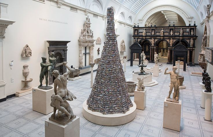 Barnaby Barford, The Tower of Babel, V&A Museum, London, 2015.