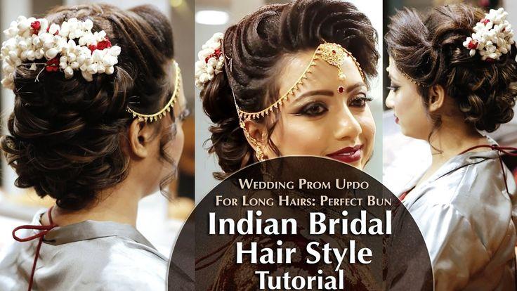 Indian Bridal Hair Style | Perfect Long Hair Bun Tutorial | Krushhh by K...