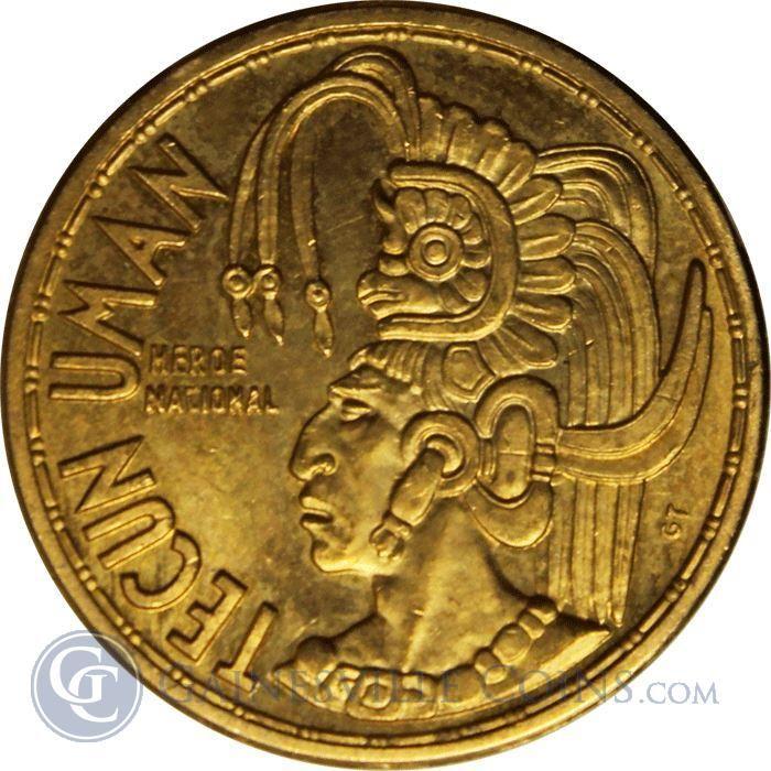 1965 Guatemala Tecun Uman Gold (.234 oz AGW)