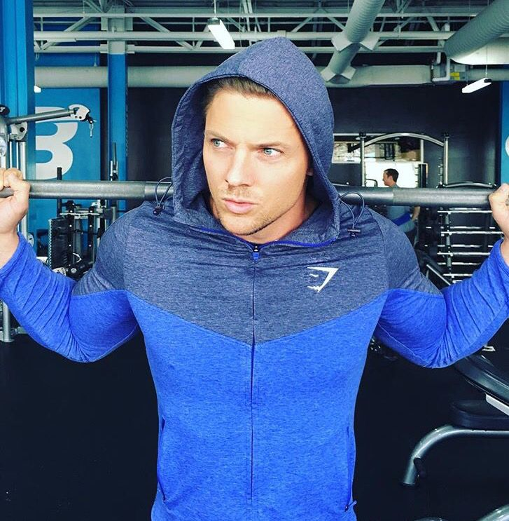 I own this jacket. GYM SHARK. Steve Cook. Body building.