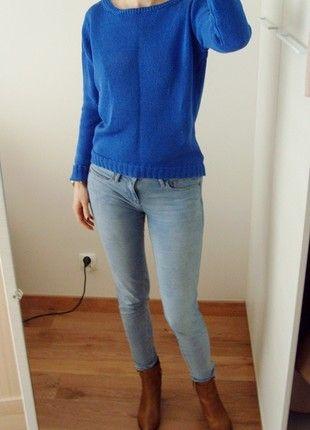Kup mój przedmiot na #vintedpl http://www.vinted.pl/damska-odziez/swetry-z-dlugim-rekawem/20518653-30-zl-przy-wymianie-massimo-dutti-sweter-100-bawelna-kobalt-gladki-prosty-36-38