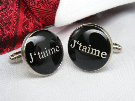 J'taime - Boutons de Manchette - French - Cufflinks - Wedding Ideas - Mens Accessories - For him - Unique Gift Ideas - Cuff Link Jewelry on Etsy, $39.00 CAD