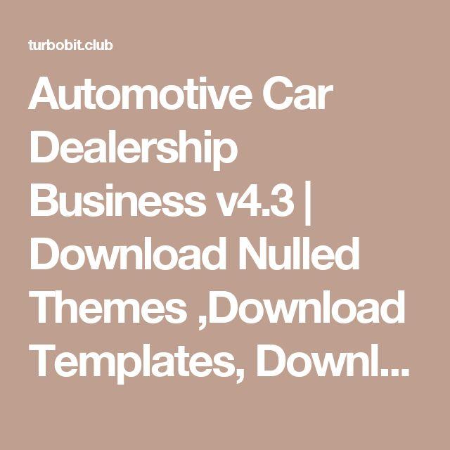 Automotive Car Dealership Business v4.3 | Download Nulled Themes ,Download Templates, Download Scripts, Download Graphics, Download Vectors