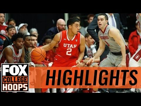 Stanford beats Utah 81-75 | 2017 COLLEGE BASKETBALL HIGHLIGHTS
