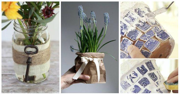 Chi è alla ricerca dell'idea perfetta per decorare vasi e barattoli in stile Shabby Chic è nel posto giusto!