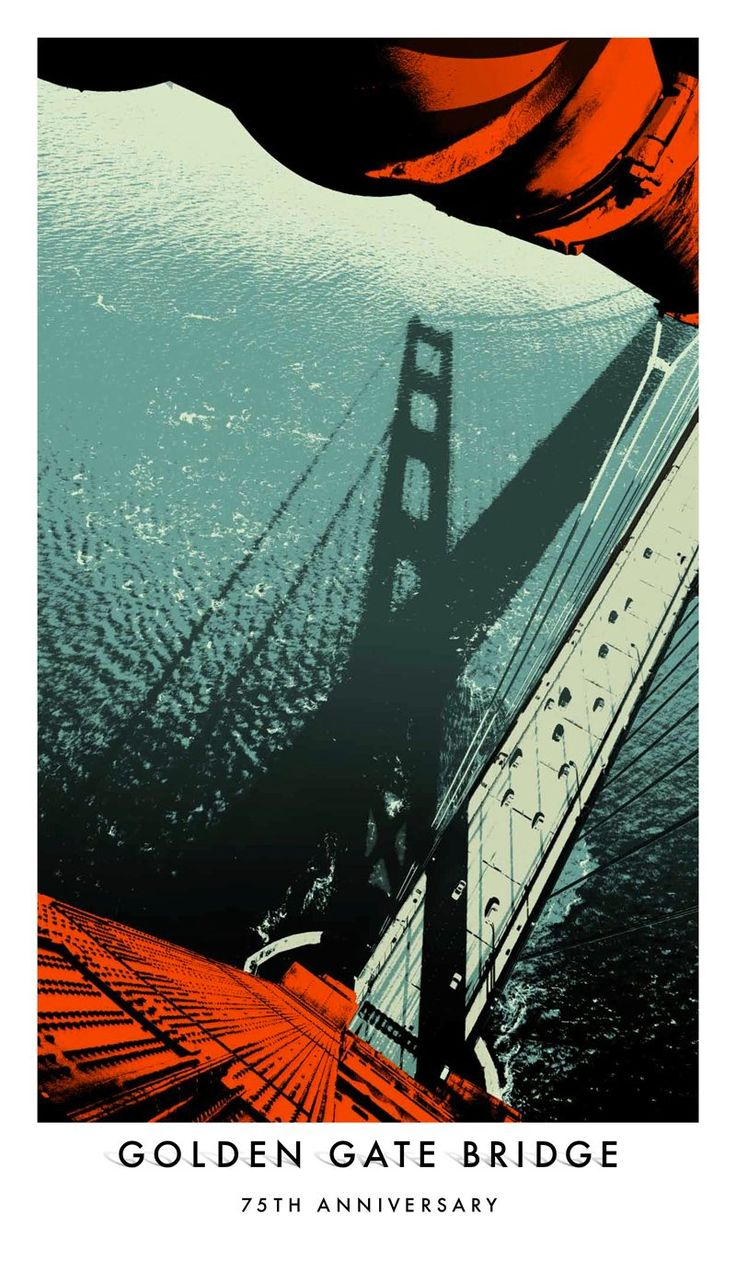 Happy Birthday!75Th Anniversaries, Golden Gate Bridge, Golden Gates Bridges, Anniversaries Pictures, Goldengatebridge, Bridges 75Th, San Francisco, Anniversaries Posters, Art Illustration