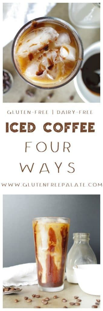 No need to go to your local coffee shop for a good Iced Coffee. Now you can make Iced Coffee Four Ways at home with a few minutes and some simple ingredients - Traditional Iced Coffee, Dirty Chai Iced Coffee, Salted Caramel Iced Coffee, and Mocha Iced Coffee.