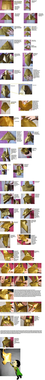 Loki origami helmet diagrams by WindMermaid.deviantart.com on @DeviantArt