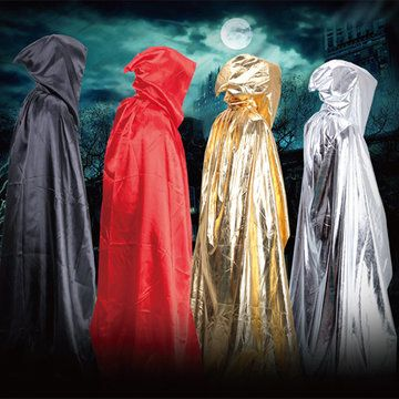 Hot  Halloween Shining Loose Sorcerer Cosplay Cloak Satin Hooded Robe Costumes  - NewChic Mobile.