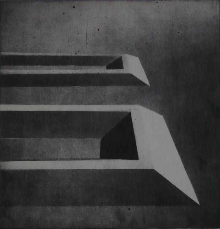 Tomasz Daniec ~ The Outskirts VII / aquatint / 2009