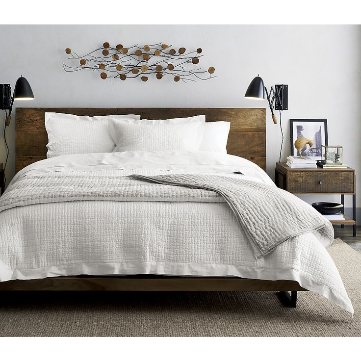 """GUEST ROOM bedding!! Constructed like a quilt, the lightweight, cotton-filled duvet cover is backed in soft cotton and detailed with a bottom button closure. <a href=""""/down-duvet-insert/f10921"""">Duvet inserts</a> also available.<br><br><NEWTAG/><ul><li>100."""