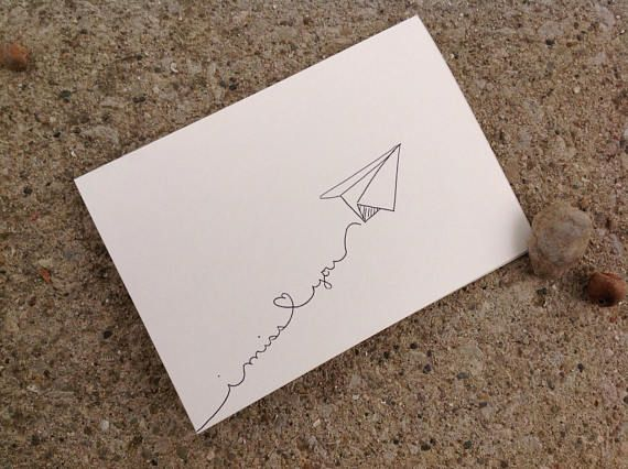 Paper Airplane I Miss You Card Hand Drawn Instant Download Etsy I Miss You Card Miss You Cards Hand Of Cards
