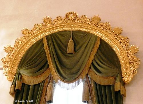 Vornehm by dorena-wm, via Flickr....window treatment for formal living and formal dining  (bc)