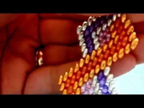 DIY-Tutorial. It. bracciale zig-zag in 5 colori di twinbeads - YouTube