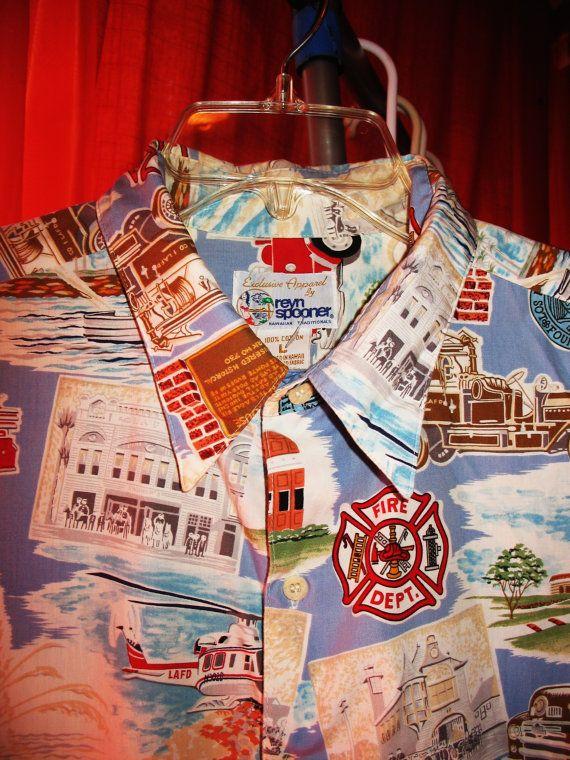 Amazing REYN SPOONER Vintage Hawaiian Shirt Fire by oldmagicchest, $34.99