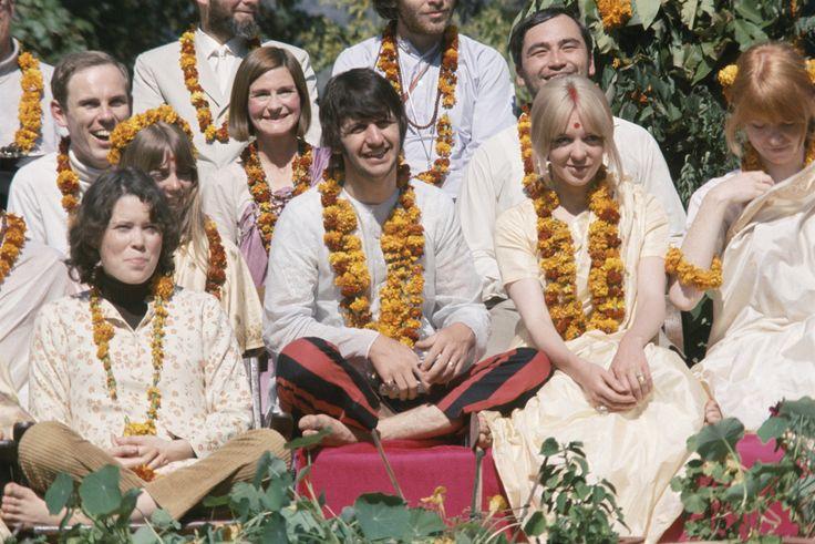 Prudence Farrow, Ringo Starr, Maureen Starkey and Jane Asher (1968) by Paul Salzman