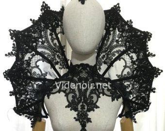 Elizabethan Halsband Spitze Wired Ruff Netz von Videnoir auf Etsy