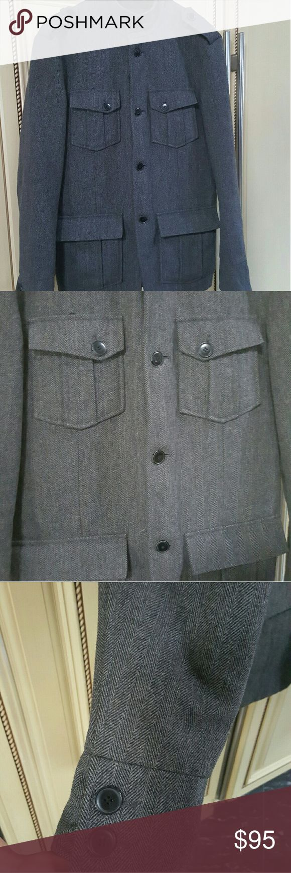 Mens- Jack & Jones premium Peacoat Jack and Jones premium grey Peacoat in perfect condition like new no flaws Jack and Jones Jackets & Coats Pea Coats