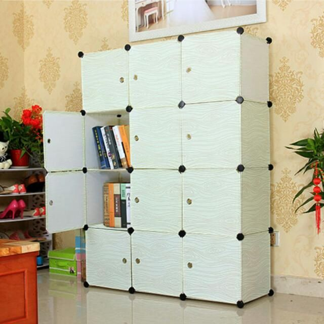 Buy BN DIY Wood Texture Modular Cube Storage Cabinet System Rack Shelf Wardrobe Box Storage in Singapore,Singapore. Cool wood-texture storage systems for your home. Add some nature to your everyday life!   Diy panels (panels are NOT WOODEN. just wood texture printing) Can cho Chat to Buy