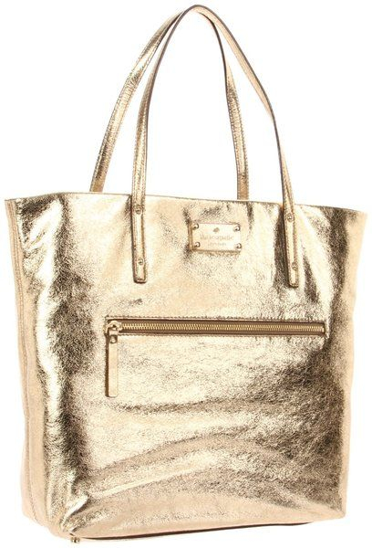 got it--love it!! kate spate metallic tote | Kate Spade Kate Spade New York Flicker Bon Shopper Gold Tote in Gold ...
