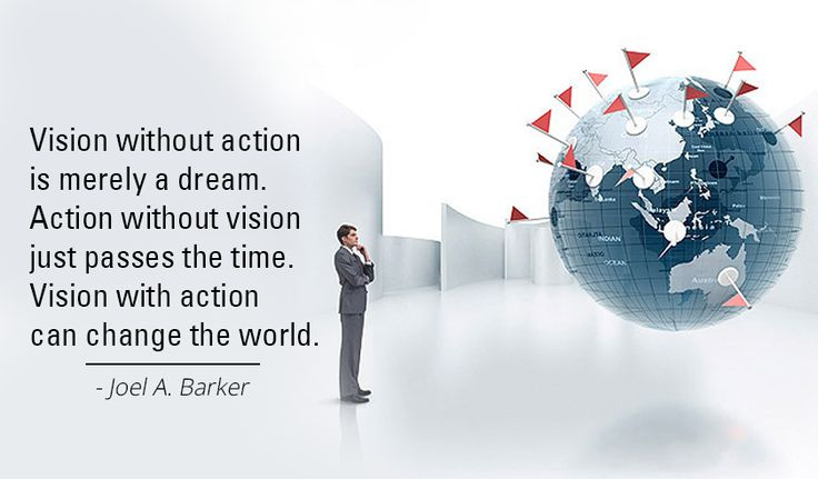 #Vision without action is merely a dream. Action without vision just passes the time. Vision with action can change the world. -Joel A. Barker http://www.networkmarketingpaysmebig.com/