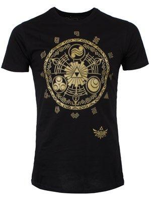 Nintendo Zelda Legend Of Zelda Men's Black T-Shirt #nintendo #legendofzelda