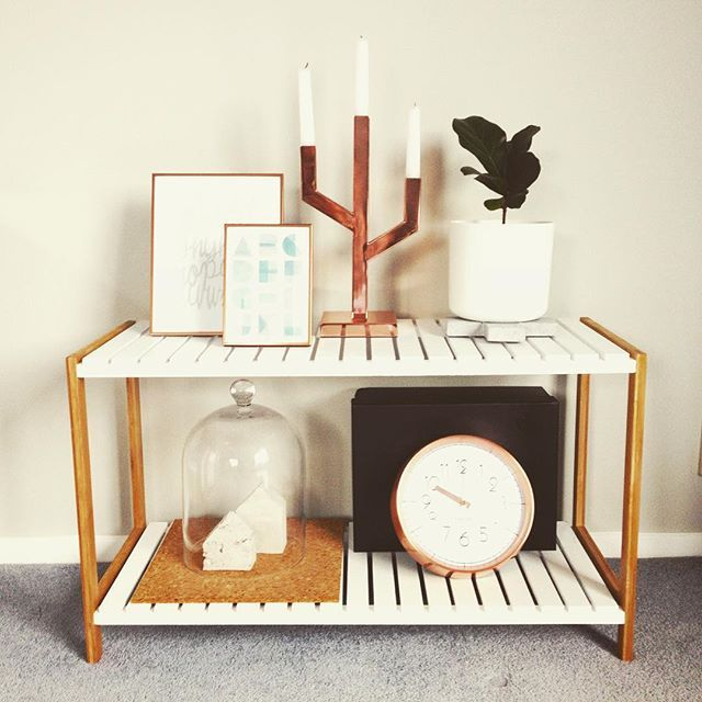The copper trend isn't going anywhere #photoframes #candleholder #wallclock #instorenow