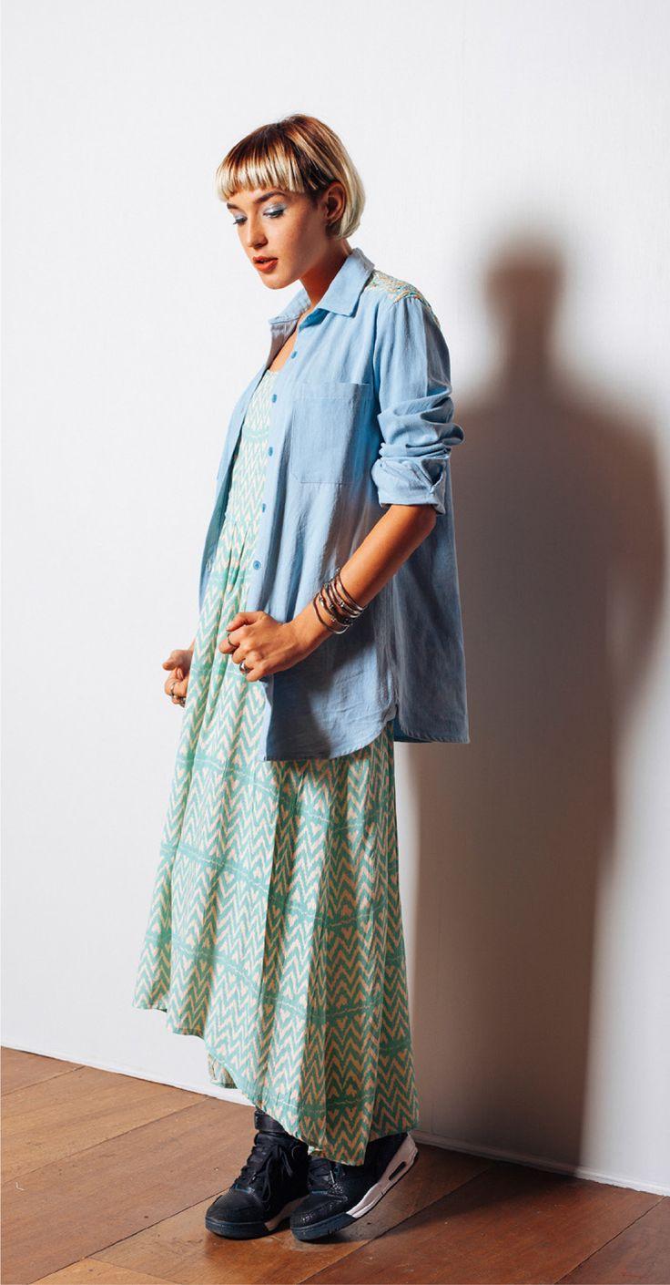 Maidenlove 'Cara' shirt and 'Salvita' dress http://www.maidenlove.net/