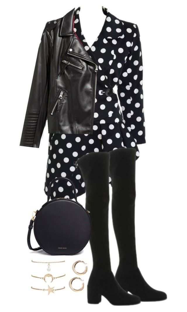 """""""Untitled #4786"""" by theeuropeancloset on Polyvore featuring Yves Saint Laurent, Stuart Weitzman, Mansur Gavriel and H&M"""