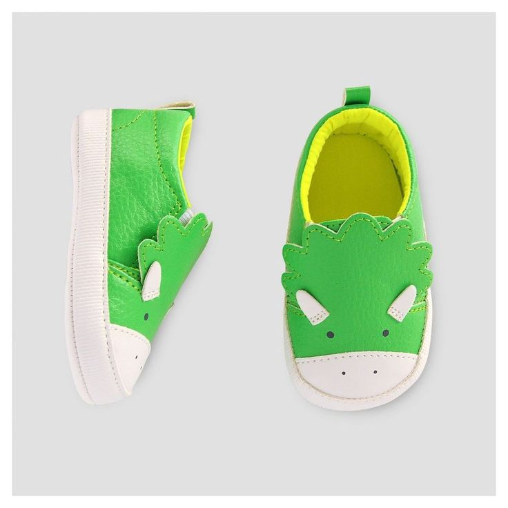 Baby Boys' Dino Slip on Sneaker -Cat & Jack Green 6-12M, Infant Boy's, Size: 6-9 M, Green White