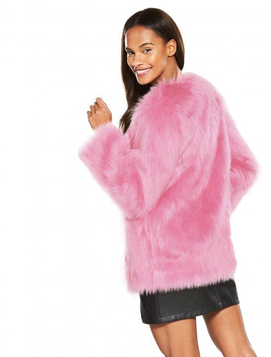 aa625c7533dc Faux fur coat worn by Mabel in the Not3s and her music video My Lover.