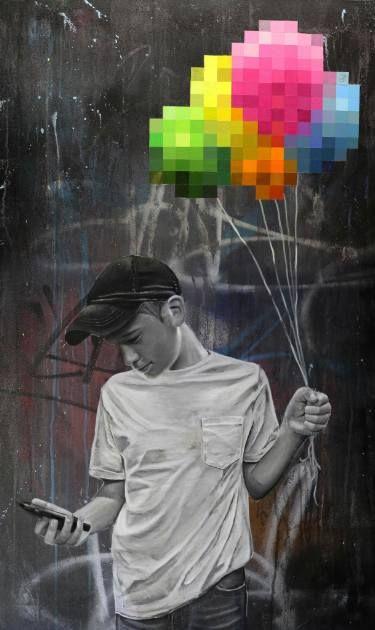"Saatchi Art Artist sage -; Painting, ""#2 (Disconnected series)"" #art"