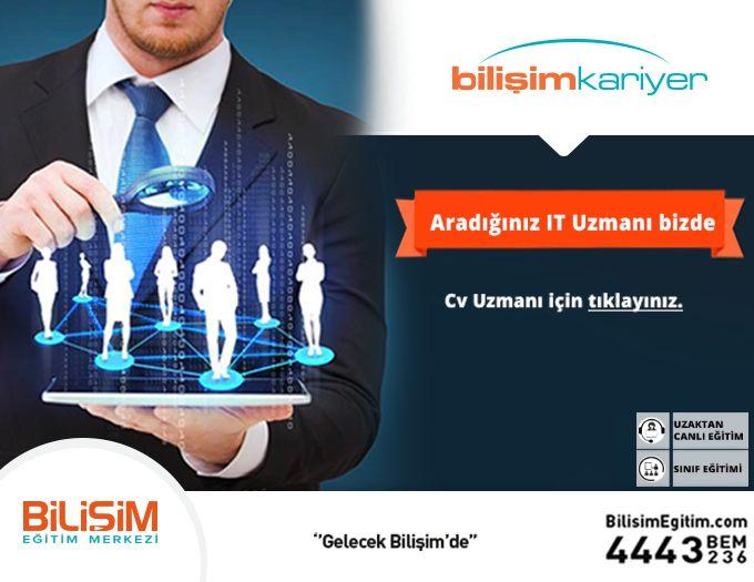 Aradığınız IT Uzmanı Bizde! Bilişim sektörün nitelikli iş gücü ihtiyacının tek adresi olan Nitelikli Bilişim Uzmanı CV Havuzu, firmalara özel, İŞKUR SGK teşvik avantajları ile bilişim uzmanı ihtiyacını karşılamak isteyen farklı sektörlerden bir çok firmaya hizmet vermektedir. Türkiye'de BT alanına odaklanmış Nitelikli Bilişim Uzmanı CV hizmeti sunan http://cvhavuzu.bilisimegitim.com'da firmanıza uygun olacak Yazılım veya Sistem uzmanı CV'lerine ulaşabilirsiniz.