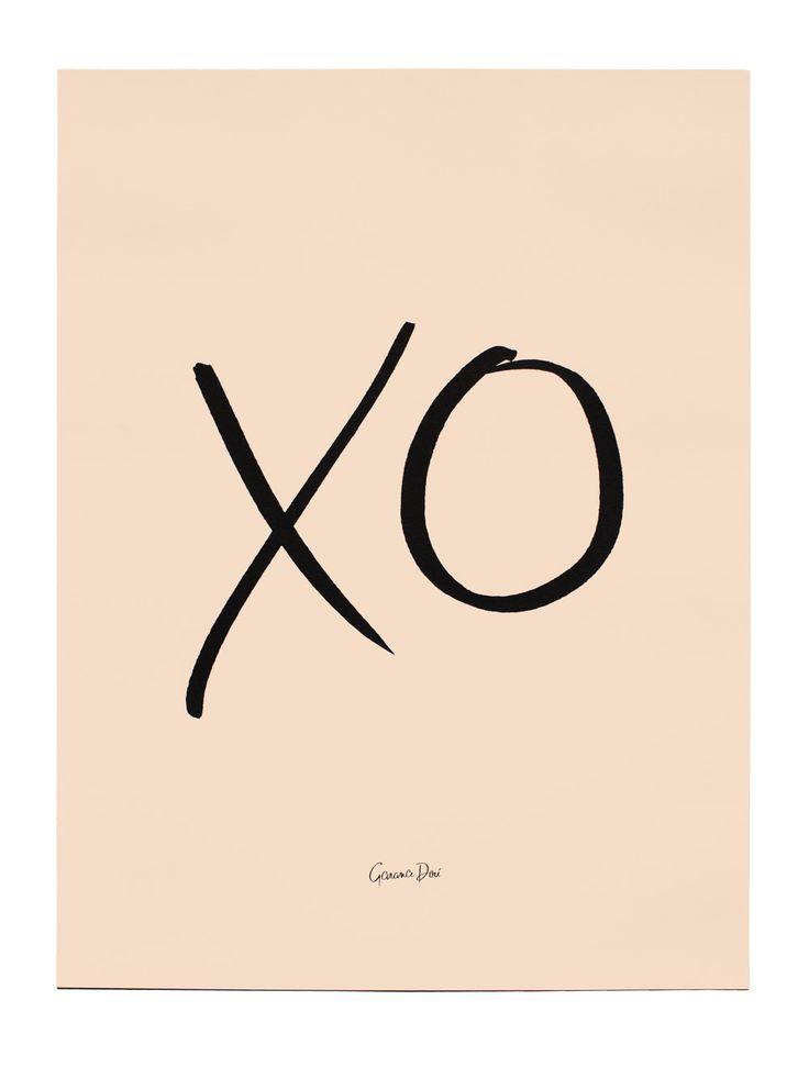 XO Poster, 18x24 / Garance Doré