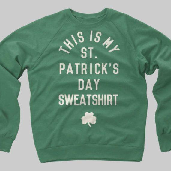 St. Patricks Day Shirt Irish Vintage Crewneck by CaliberClothingCo, $39.99
